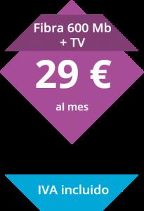 Fibra 600 Mb y Television